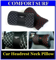 Latest Design !! Car Headrest Neck Pillow Wine Comfort Leather head Pilow