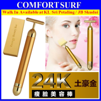 24K Gold Energy Beauty Bar Facial Slimming Anti Aging Firming Face Massager