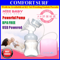 MissBaby Quality USB Portable Electric Massage Breast Pump 9 Mode Control, BPA FREE