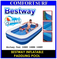 BESTWAY INFLATABLE PADDLING POOL 54006 Family Size 262x175x51cm