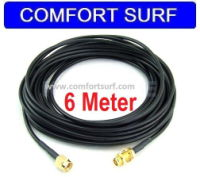 6M RP-SMA Extension Cable for Wi-Fi Antenna / Router