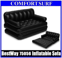 Original BestWay75056 Multifunction Inflatable Air Sofa Double Seats + Foot Rest + Pumper