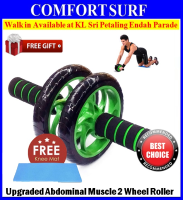 Upgraded 2 Wheels Ab Roller Abdominal Muscle AB Fitness Dual Wheel Strength Trainning