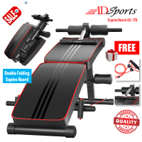 ADSports AD-178 Multifunction Fitness Gym Foldable Sit Push Ups Bench Abdominal Muscle Workout Supine Board Bench Chair