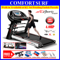 4.0HP ADSports AD928 Motorize Electric Treadmill Manual/Auto Incline 59CM Platform Auto Refueling + 4Way Damping Spring