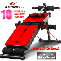 ADKING AD-108 Top Fitness Gym Sit Ups / Push Ups Bench 6 Six Pack ABS Workout Bench Chair (Top Spec)
