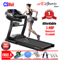 FREE 8Gifts - 3.0HP ADSports AD9509 Home Exercise Gym Fitness Electric Motorized Treadmill Running Machine