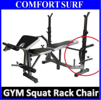 Multifunction Professional GYM Dumbbell Chair + Weight Lifting Squat Rack Bench