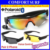 Universal Bluetooth 4.0 Polarized Sunglassess Music Headset Headphone Pair 2x Phones + Shutter + Voice Control