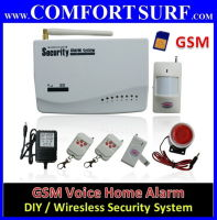 DIY GSM Wireless Burglar Alarm Home / Shop Security with GSM / SIM Card