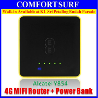 Alcatel Y854 LTE 4G 150Mbps MiFi 5150mAH 20 Hours Straight 500hrs Standby + Power Bank 15 Devices Connect