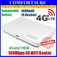 Alcatel Y858 Full Band LTE 4G 150Mbps MiFi 1800mAH 6 Hours 15 Devices Auto APN