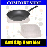 3pcs of White Silicone Mat Heat Kitchen Pot Pan Holder Anti-slip Resistant
