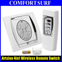 4 channel 4 Gang Digital Wireless Remote Control Wall Switch 220V~240V