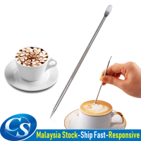 Stainless Steel Coffee Latte Art Pen Espresso Barista Cappuccino Latte Espresso Coffee Drawing Art Pen Tools