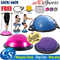 ADSports [58/46CM] Upgrade Bosu Yoga Balance Balls Fitness Gym Workout Half Yoga Ball Exercises Balance Trainer Ball