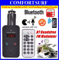 Car Wireless Bluetooth Hands-free Kit MP3  / WMA Player FM Transmitter Modulator
