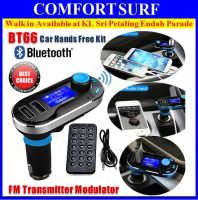 BT66 Car Wireless Bluetooth Hands-free Kit MP3  / WMA Player FM Transmitter Modulator Dual USB Car Charger SD LCD Remote