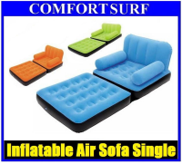 Original BestWay Inflatable Air Sofa Single Seater + Foot Rest