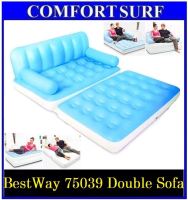 New !! Original Multifunctional Bestway Inflatable Air Double Sofa 75039 Seat Pull-Out