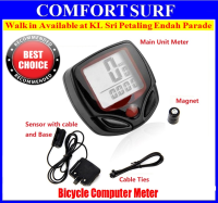 Water Proof LCD Stopwatch Bike Cycling Speedometer Computer Speed Bicycle Meter Odometer