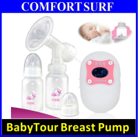 BabyTour Portable LCD Electric Breast Pump with Massage, Battery & 9 Mode Control