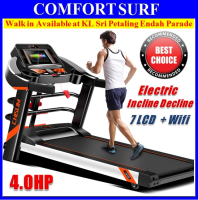 Powerful Pro Treadmill Chislim S500 Luxury 4.0HP Electric Incline Decline + 7 Inch LCD Wifi