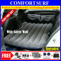 Inflatable Car Back Seat Air Bed Mattress WITH Extended Children Safety Wall