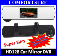 2in1 Full HD Car DVR CCTV Video Recorder + Car RearView Mirror SOS