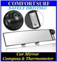 Auto Vehicle Car Real View Inner Interior Mirror Compass & Temperature Measure Function