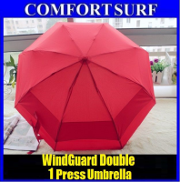 Original Double Windguard Multicolor One Press Umbrella