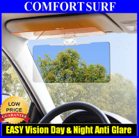 HD Clear EASY Vision Day & Night Sun Visor Anti-Glare Dazzle UV Blocker Clip ON only