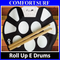 Portable Professional Roll-Up Electronic Drum Musical Instrument With Pedal Expansion
