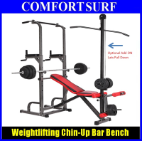 Weightlifting Bench Chin-Up Pull up Bar / Dumbbell Sit up Chair Optional Lats Pull Down
