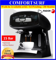 15 Bar Fagor CR-14 Espresso Italian Coffee Maker Machine - 2 Cups + Memory