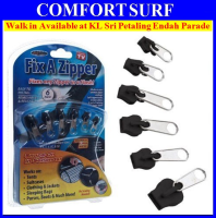 Fix A Zipper Zip Slider Rescue Instant Repair Kit Replacement AS SEEN ON TV 6 Pcs