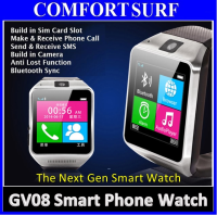 GV08 Real Smart Watch Phone With SIM Slot Camera Bluetooth Touch Screen
