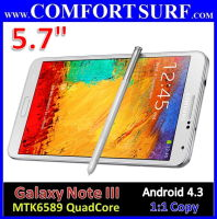 "5.7"" Samsung Galaxy NOTE III N9000 1:1 Clone Android 4.3 GPS Smartphone"