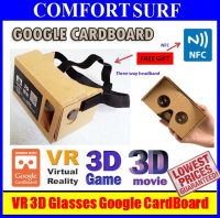 Google Cardboard Virtual Reality VR DIY 3D Glasses Cinema (FREE Headband + NFC Support)