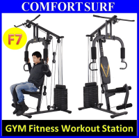F7 Multi Function Home Gym Station: Fitness Workout Press Machine With 55KG