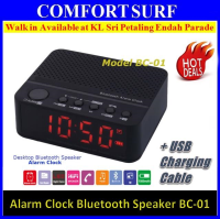 Portable Desktop LED Display Alarm clock Bluetooth Speaker Alarm clock, Radio, Memory Card