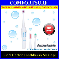 3 IN 1 Electric Toothbrush Massage and comfortable rounded Bristle