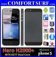 Hero H2000+ MTK6577 Dual SIM GPS Iphone 5 Alike Smart Phone