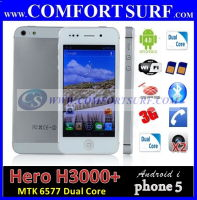 Hero H3000+ MTK6577 Dual SIM GPS Iphone 5 Alike Smart Phone