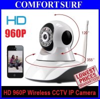 960P SecurEyes 2 in 1 P2P Wireless IP Camera + IR Night Vision/MicroSD via Smartphone + Motion Alarm