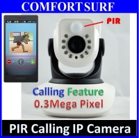 PIR Sensor P2P Wireless IP Camera + IR Night Vision - Alarm Phone Calling