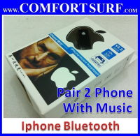 Smartphone Bluetooth Headset - Pair 2 Phone + Media support (iphone)
