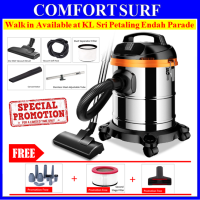 Heavy Duty 1200W 3-in-1 Dry / Wet / Blower 15L Vacuum Cleaner - FREE Brush + Second Stage Filter
