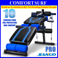 Jianuo Luxury Fitness Gym Sit Up Bench Six Pack ABS Workout Bench (10 Cushion Foam)