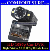 "Full HD 1080p Car Portable DVR CCTV 2.0"" LCD Recorder + 8 IR LED Night Vision"